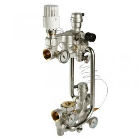 VT.COMBI Насосно-смесительный узел для систем теплых полов, с термоголовкой, Valtec
