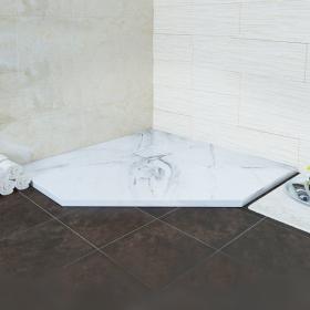 Поддон трапеция из искусственного камня серия RGW Stone Tray ST/T (мрамор)