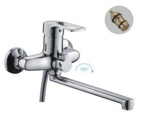 Frap F22701-B (смеситель хромированный для ванны ф40 излив 30 см )