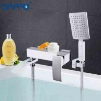 GAPPO G3207-8 (смеситель белый хромированный для ванны переключатель на лейке)