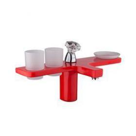 GAPPO G1096-7 (красный в комплекте входят 2 стакана и тарелка)