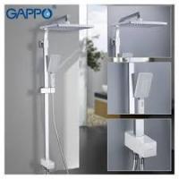 GAPPO G2408-8 (душевая система с верхним душем, ручной лейкой белый/хром)