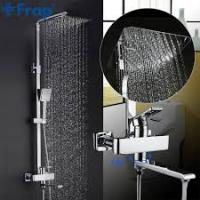 FRAP F2415-2 (душевая система со смесителем хромированный излив является переключателем на душ или лейку)