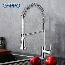 GAPPO G1052-3 (смеситель для кухни ф40-гайка гибкий излив)