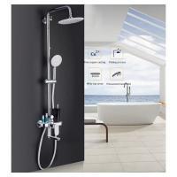 GAPPO G2419 (душевая система со смесителем, верхним душем, ручной лейкой хромированная)