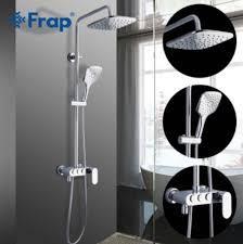 FRAP F2423 (душевая система смеситель хромированный излив поворотный кнопочный нажимной переключатель)