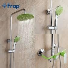 FRAP F2433 (душевая система со смесителем зеленый хромированный с поворотным изливом)
