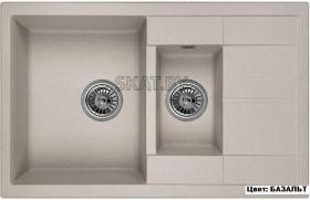 Мойка кухонная GRANULA GR-7802 оборачиваемая (БАЗАЛЬТ)