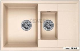 Мойка кухонная GRANULA GR-7802 оборачиваемая (БРЮТ)