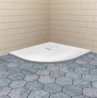 Поддон полукруглый из искусственного камня серия RGW Stone Tray (белый)