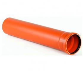 Труба 160/3000/3,2 оранж. канализ. ПВХ-У (Sanibud)