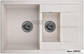 Мойка кухонная GRANULA GR-7802 оборачиваемая (ПИРИТ)