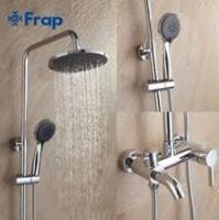 FRAP F2416 (душевая система смеситель хромированный излив лейка верхний душ)