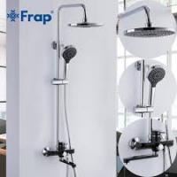 FRAP F2442 (черный хромированный душевая система со смесителем)
