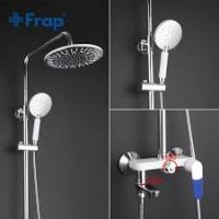 FRAP F2434 (белый хромированный душевая система со смесителем излив - переключатель на лейку)