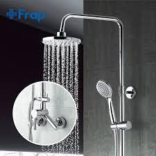 FRAP F2409 (душевая система со смесителем, верхним душем и ручной лейкой, хром )
