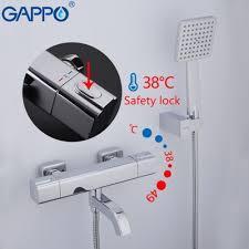 GAPPO G3291 (смеситель с термостатом хромированный излив является переключателем на лейку)