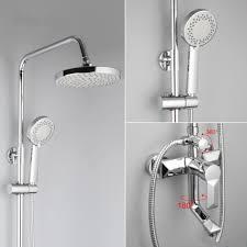 FRAP F2418 (душевая система со смесителем хромированный излив лейка верхний душ)