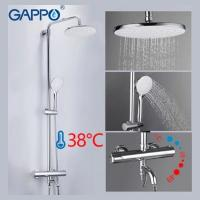 GAPPO G2490 (душевая система с верхним душем, термостатом и ручной лейкой, излив является переключателем на лейку хром)