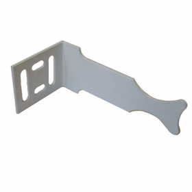 кронштейн угловой радиаторный (стальной, белый)