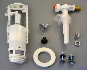 """арматура для смывного бочка с боковой подводкой 1/2"""" с системой """"стоп кнопка"""" Alcaplast SA2000К"""